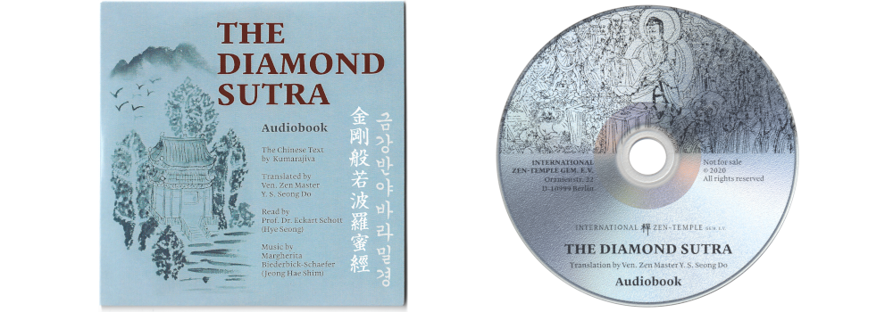 Cover and CD of the Diamant-Sutra audio book